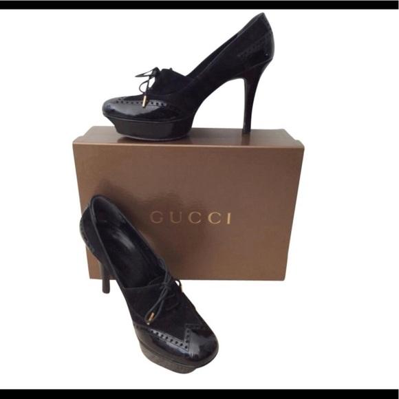 9a9e1e1758d Gucci Shoes - Gucci Black Platform Heels